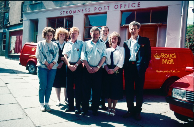Post office staff outside what was then the post office in Victoria Street. © Estate of Keith Allardyce