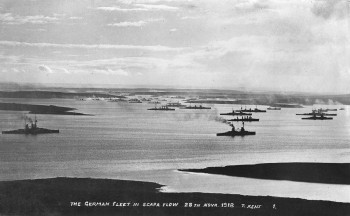 German Fleet in Scapa Flow. Reproduced with kind permission Orkney Library and Archive.