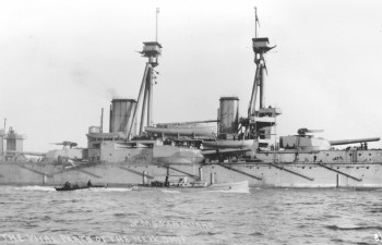 HMS Vanguard © Orkney Library and Archive