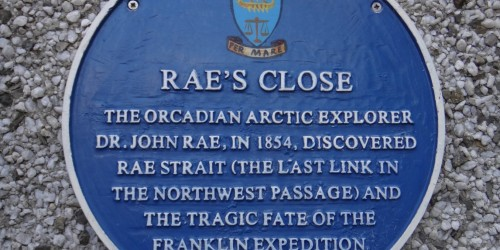Blue Plaque for Rae's Close